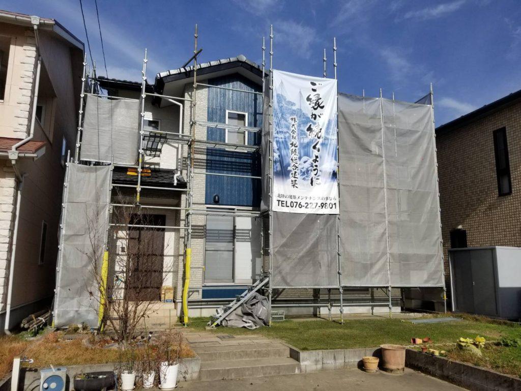 北陸総合建築の施工現場